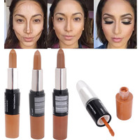 Maquiagem Bronzer 3D Makeup Highlight Contour Cream Stick Dark Color Long Lasting Contouring Foundation Face Concealer Liquid Pen