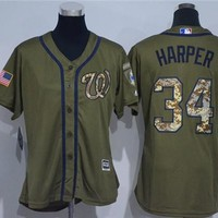 Women's Washington Nationals #34 Bryce Harper Majestic Cool Base Jersey