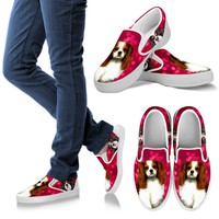 Valentine's Day Special-Cavalier King Charles Spaniel Print Slip Ons Shoes For Women-Free Shipping
