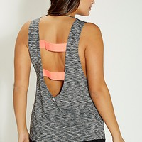 plus size spacedye tank with neon banded back | maurices