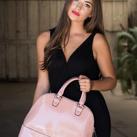 Cotton Candy Medium Tote Convertible Bag in Nude Pink Candy