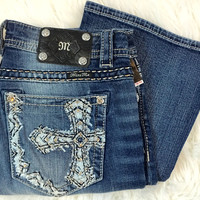 MISS ME MY7550BV MID-RISE BOOTCUT JEANS