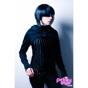 Motoko -Short Black Layered Full Wig