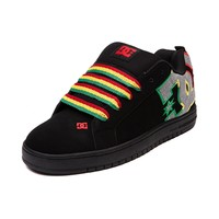 Mens DC Court Graffik Rasta Skate Shoe