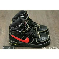 Nike Air Force One classic in the help plate shoes F-HAOXIE-ADXJ Black + red hook