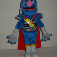 Sesame Streets Flying and Talking Super Grover