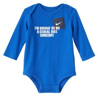 Nike ''I'm Gonna Be On a Cereal Box'' Bodysuit - Baby Boy, Size: