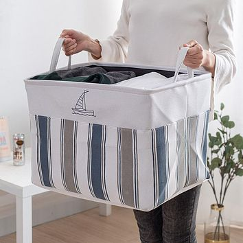 Big Mac Storage Basket, Extra Large Dirty Clothes Hamper, Cotton And Linen Beam Mouth, Dustproof Storage Bag, Wardrobe Storage Box, Quilt Storage