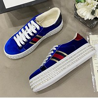 Gucci water drill thick sole casual shoes