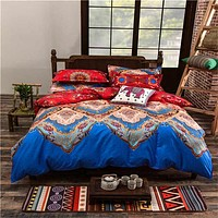 Full/Queen/King Size Bedding Sets Bohemian Style Reversible 4pcs Duvet Cover Sets Pillowcases Comforter Covers 3pcs