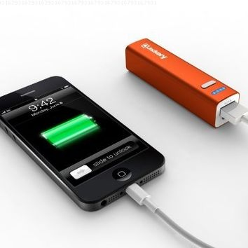 Jackery Mini Portable Charger 3350mAh - External Battery Pack, Power Bank, & Portable iPhone Charger for Apple iPhone SE, 6s, 6s Plus, 6, 5, iPad Pro, iPad Mini, Samsung Galaxy S7, S6, and S5 (Orange)
