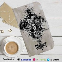 Slipknot Cover Leather Wallet iPhone 4/4S 5S/C 6/6S Plus 7| Samsung Galaxy S4 S5 S6 S7 NOTE 3 4 5| LG G2 G3 G4| MOTOROLA MOTO X X2 NEXUS 6| SONY Z3 Z4 MINI| HTC ONE X M7 M8 M9 CASE