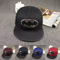 Free Shipping New Style Brand Cotton Batman Snapback Hip Hop Cap Hat Fashion Casual Batman Baseball Cap Hats For Men Women