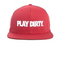 Undefeated Play Dirty Snapback In Red