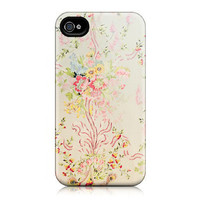 iPhone Case for iPhone 4 and 4S - Floral,Versailles Wallpaper Pattern, Marie Antoinette, Feminine