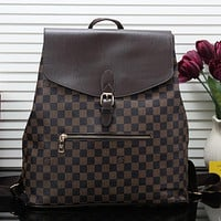 Louis Vuitton LV Fashion Leather Backpack Satchel Shoulder Bag