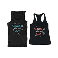Summer Kind of Guy & Girl Matching Couple Tank Tops