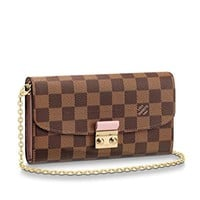 Luxury Italy Popular Design CROISETTE CHAIN WALLET Original Damier canvas evening pouch S-lock closure clutch bag N61273