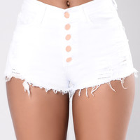 Everything Was Beautiful Shorts - White