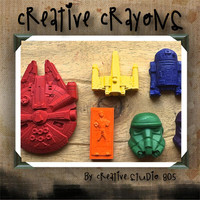 STAR WARS - shaped crayons - birthday party favors - baby shower favors - christmas stocking stuffers