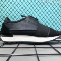 DCCK B008 Balenciaga Casual Race Runner Low-top Running Shoes Black