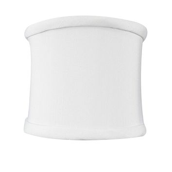 """4""""W x 4""""H Down White Clip-on Sconce Half-Shell Lampshade"""