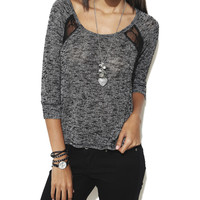 Lace Inset Hacci Top | Shop Tops at Wet Seal