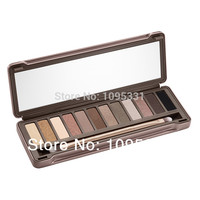 Hot sale 2014 brand new High quality nake makeup eyeshadow palette nk2 12 colors Glitter Eye Shadow nk 2 Cosmetics