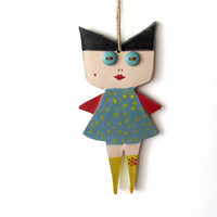 Ceramic Marionette---Blue eyes-Anna dolls----Gift--Sweet- Doll--moblie.-Modern--Home decor-Chrsitmas gift--Gift under 50 USD