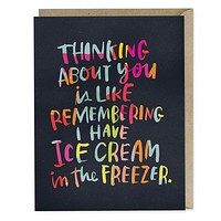 Ice Cream Freezer Love Card