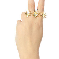 Accessories Boutique Finger Ring High Life Triple in Gold