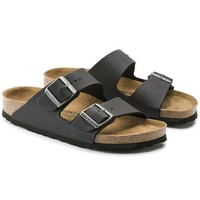 Birkenstock Beach Slippers Arizona Microfiber Anthracite Sandals