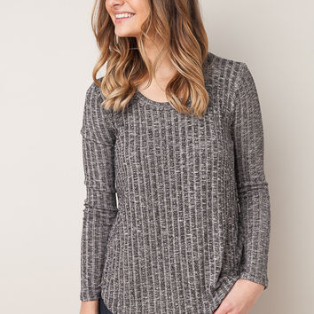 As We Are Now Charcoal Top