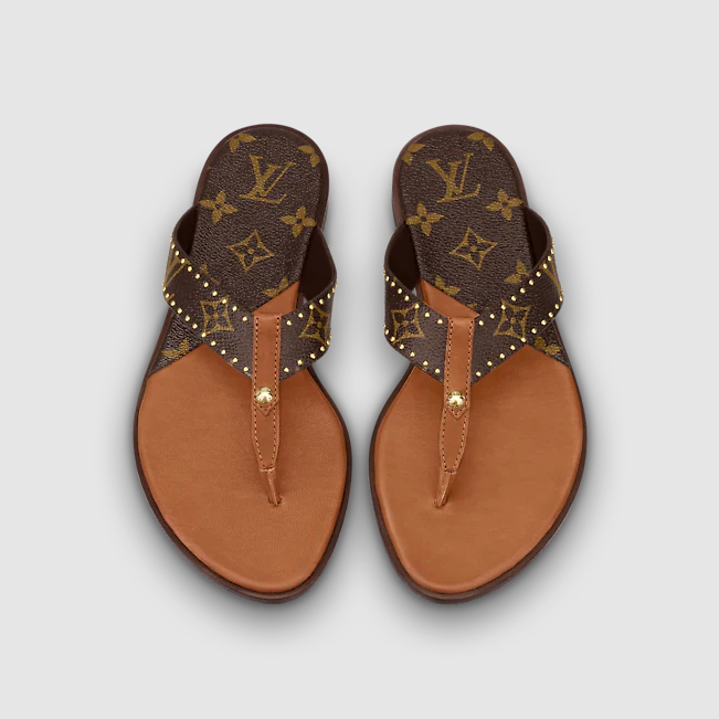 Image of LV fashion casual flat bottom Flip Flop Sandals