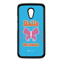 Sassy - Hello Gorgeous 10433 Black Hard Plastic Case for Moto G2 by Sassy Slang