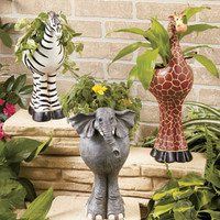 Safari Animal Shape Spring Time Planters