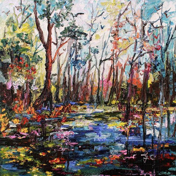 Cypress Gardens South Carolina Oil Painting