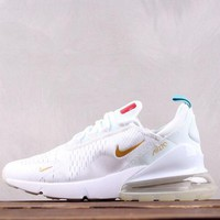DCCK2 N008 Nike Air Max 270 Flyknit France The World Cup Breathable Running Shoes White