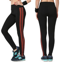 Women's Fashion High Waist Stretch Cotton Sweatpants Jogging Wearing Ladies Yoga Pants Gym Sports And Fitness Candy Color Capris Leggings = 4747033540