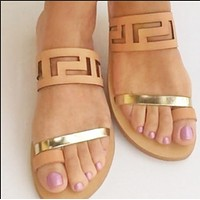Explosive style hot sale super hot fashion clip foot all-match sandals and slippers shoes