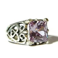French Lavender Ring, Statement Ring, Sterling Silver, Over 10 Carats