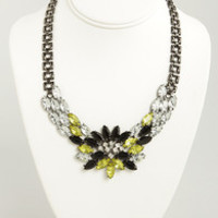 Gem of Your Garment Black and Yellow Necklace