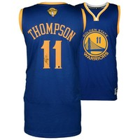 Autographed Golden State Warriors Klay Thompson Fanatics Authentic Blue 2015 NBA Finals Swingman Jersey
