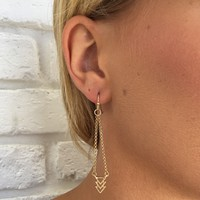 Down The Road Dangle Earrings In Gold