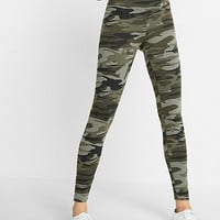 high waisted camouflage print legging