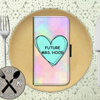Future Mrs. Hood Pastel Tumblr Candy Heart Cute 5Sos Custom Wallet Phone Case For The iPhone 4 and 4s and iPhone 5 and 5s and 5c