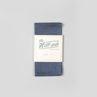 The Hill-Side Pocket Square Indigo Wabash Polka Dot