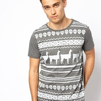 ASOS Stripe T-Shirt With Skull Pattern