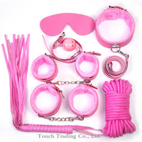 7pcs adult games rope handcuffs collars whip flogger sex toys bdsm bondage sex slave sex products adult sex toys for couples