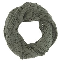 Button-Up Infinity Scarf by Charlotte Russe
